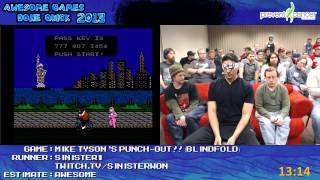 Mike Tyson's Punch Out!! Speed Run (Blindfold Attempt) by Sinister1 (AGDQ 2013) [NES]