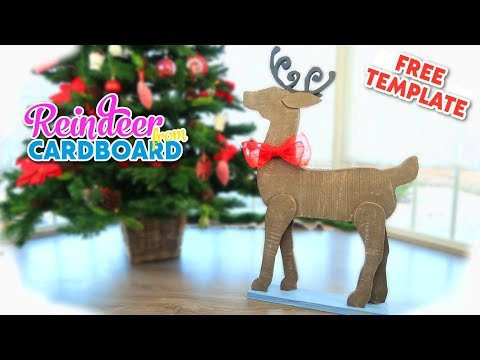 DIY Christmas Recycled Decoration! Amazing Reindeer from cardboard
