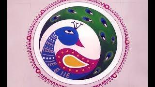 How to Make Easy Peacock Rangoli | Rangoli for Beginners | Rangoli Design Ideas