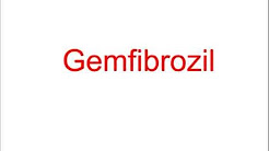 USMLE: Medical Video Lectures Pharmacology about Gemfibrozil by UsmleTeam