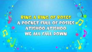 Ring A Ring A Roses | Sing A Long | Nursery Rhyme | KiddieOK