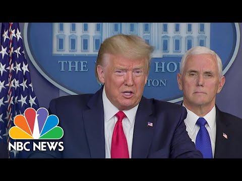 Trump Says He's A 'Wartime President' Against Coronavirus Crisis | NBC Nightly News