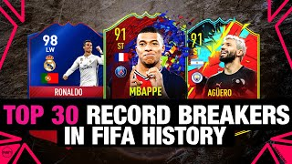 TOP 30 RECORD BREAKERS IN FIFA HISTORY 🔥   Ft. Aguero, Mbappe, Messi, Ronaldo,...