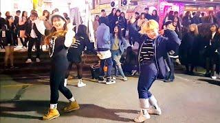 《4minute_#Crazy》#Romantico(로맨티코) 포미닛#미쳐 20170325 HongDae Bus…