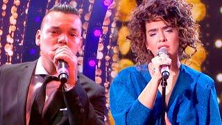 ¡Piel de gallina! Brian Lanzelotta y Ángela Leiva cantaron