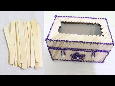 Multipurpose Storage Box | DIY Organizer From Popsicle Sticks |