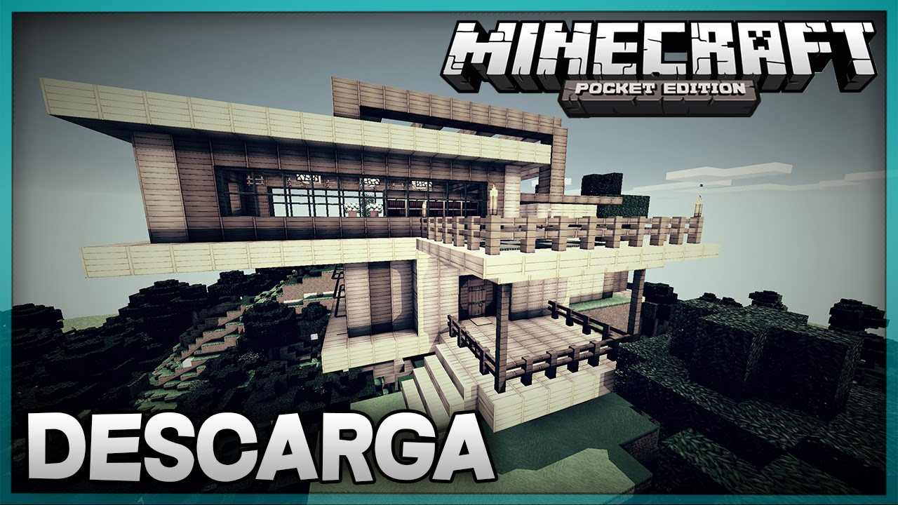 Descarga casa moderna para minecraft pe super for Casa moderna minecraft 0 12 1