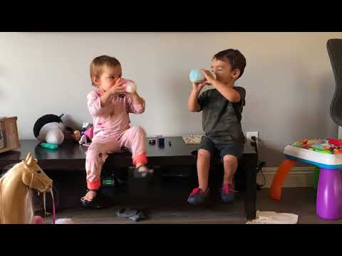 Toddlers Make Refreshing Noises While Drinking Milk - 987484