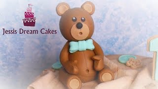Teddybär aus Fondant / How to make a fondant Teddybear
