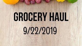 Grocery Haul 9/22/2019 I Food Lion Grocery Haul