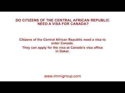 Do citizens of the Central African Republic need a visa for