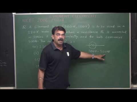 NEET/AIPMT Current Electricity 1 (past 10 year's problems& Revision)