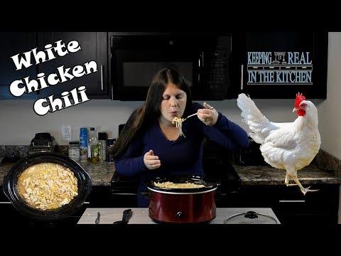 Crock Pot White Chicken Chili Recipe! Episode 92