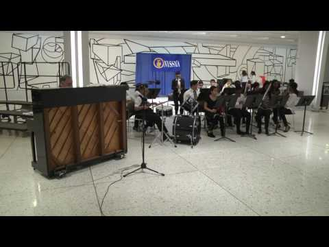 The Gotham Avenue School Jazz Band Performs in the Empire State Plaza Concourse