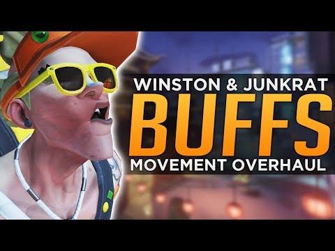 Overwatch: Junkrat & Winston BUFFS! - Movement OVERHAUL!