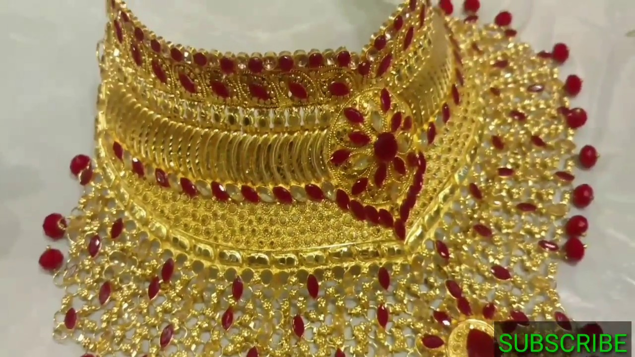 Latest Gold plate jewellery in Bangladesh - YouTube