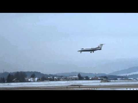 Piaggio P180 Avanti I-FXRG landing at Zurich (funny sound)