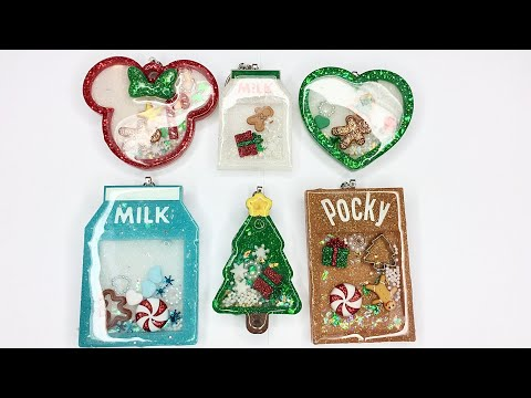 Christmas / Holiday Resin Charms | Watch me resin | Sweet Art Crafts