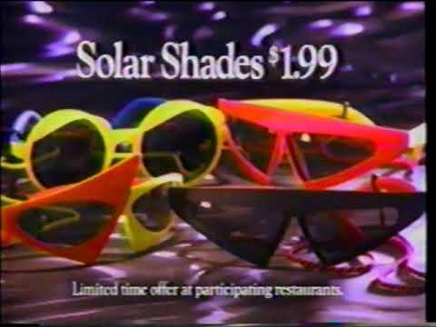 7a220c4de8 Solar Shades - Sunglasses - Back to the Future II - Pizza Hut - Commercial  (1989)