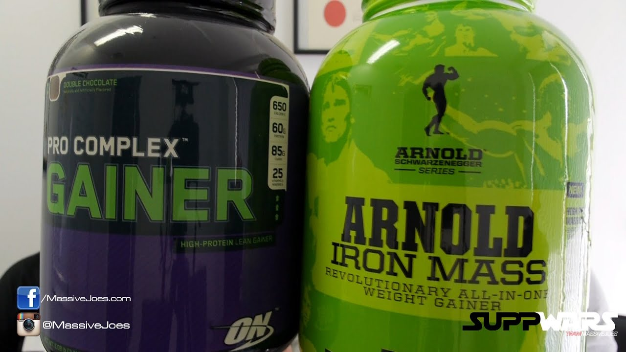 Arnold Iron Mass V Optimum Nutrition Pro Complex Gainer Supplement Massivejoes Com Suppwars You