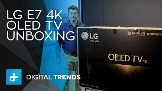 LG E7 4K OLED TV - Unboxing