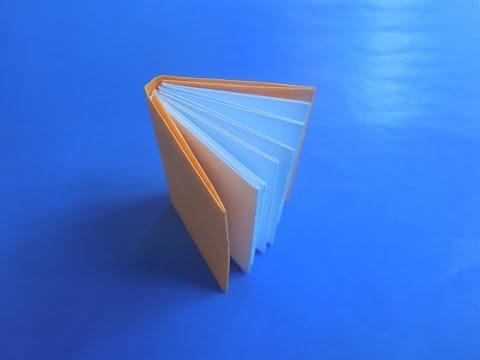 Как сделать книжку из бумаги. Оригами книжка из бумаги.