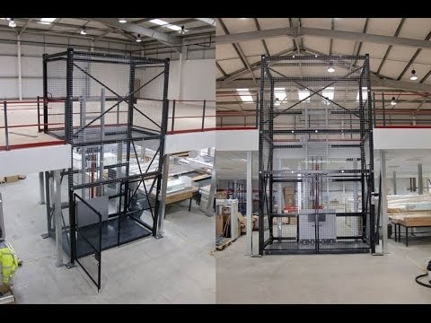 Heavy Duty Mezzanine Goods Lifts Self Supporting Goods