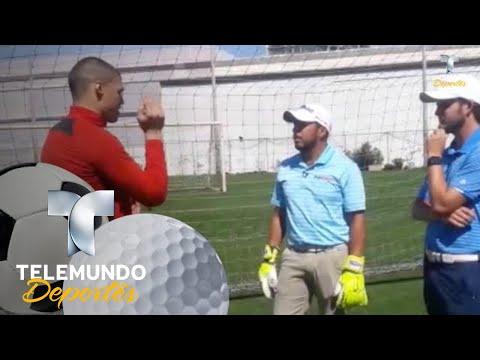 Portero de Xolos da lecciones a golfista profesional | Liga MX | Telemundo Deportes