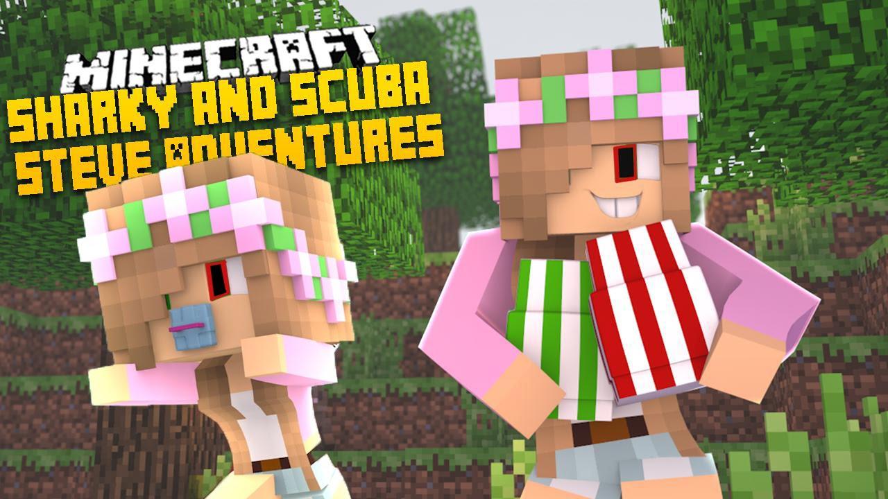 Minecraft ADVENTURE - SHARKY & SCUBA STEVE - EVIL LITTLE KELLY'S EVIL BABY ARMY!!!