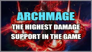 PATH of EXILE: ARCHMAGE - The Highest Damage Support in the Game