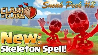 Clash of Clans | Sneak Peek #2 | New Skeleton Spell | Lure Clan Castle's [New Dark Spell, Clash of c