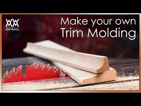Beautify Your Home With Custom Trim Molding. Save money by making your own!