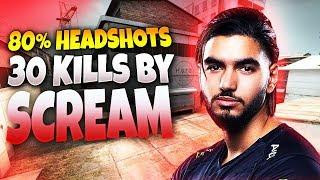 CS:GO - ScreaM 30 frags (80% Headshots) on Cache @ FACEIT