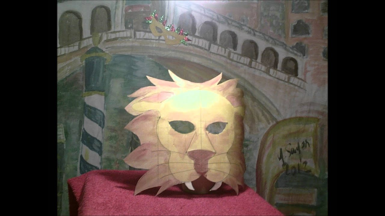 Masque de lion fabriquer masque de carnaval lion avec - Masque de carnaval a fabriquer ...