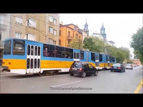 Trams in Sofia,Bulgaria PART 1