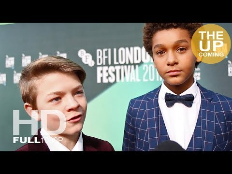 Oakes Fegley and Jaden Michael  at Wonderstruck premiere for London Film Festival