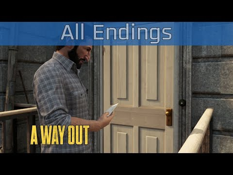 A Way Out - All Endings and Credits [HD 1080P/60FPS]