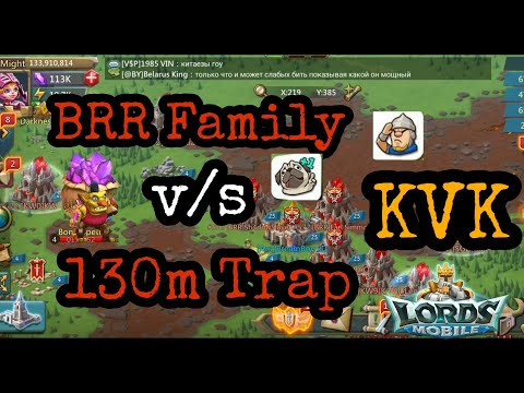 Criminal Alliance V/s 130m Might Solo Trap - Lords Mobile | Solo Trap KvK Action Part 1