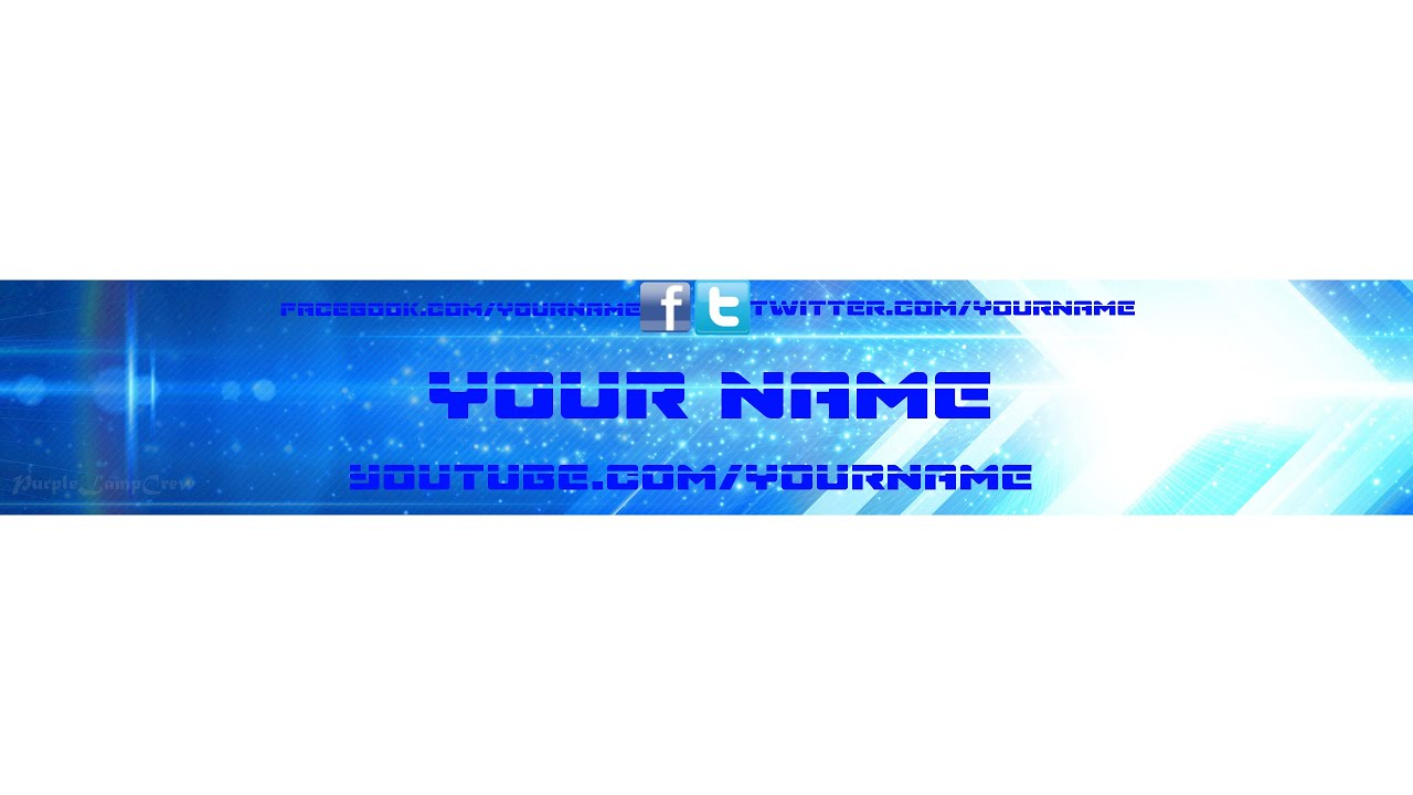 YouTube Banner Template + Download | Gimp | Mac & Windows - YouTube