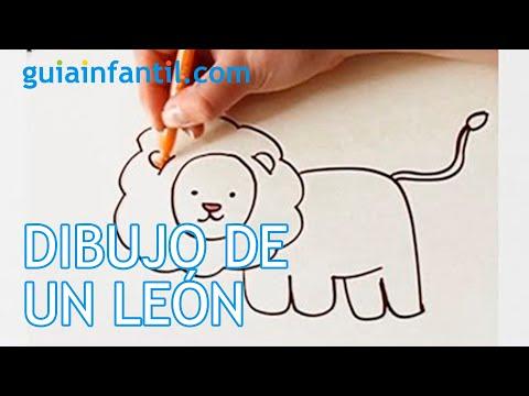 Cómo dibujar un león - Manualidades para niños