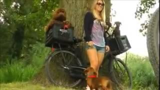 A Girl and her Dog Mujeres que juegan con los perros الفتاة والكلب by Imran doll