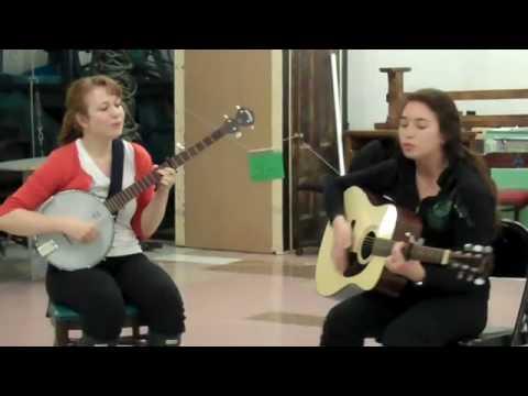 Julie Earls and Chloe Fuller sing an Earls original