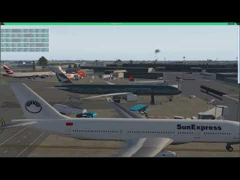 X-Plane 11 FF 777-300ER Long Haul KJFK to VHHH Hongkong by Greg man2ai