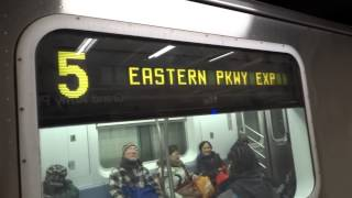 IRT Eastern Pkwy Lcl: New Lots Av & Flatbush Av bound R-142 & R-142A 4 & 5 trains @ Grand Army Plz!