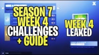 Fortnite WEEK 4 CHALLENGES! - Launch Fireworks Locations, Letter O (Season 7 Guide)+ GIVEAWAY