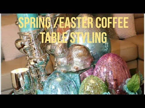 How to decorate for Spring or Easter. Coffee table. Spring Decor