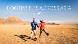 Footprints Across Asia in 1 Year - A hyperlapse journey