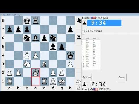 Standard Chess #92: IM Bartholomew vs. bigphil (Scandinavian Defense)