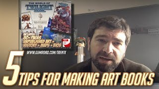 5 BEST TIPS for making An Artbook (Photoshop using templates)