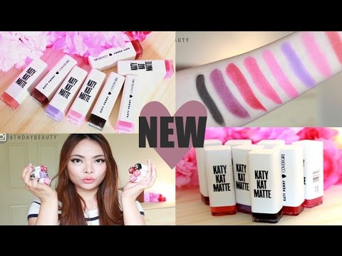 NEW CoverGirl Katy Kat Matte Lipsticks  Review & Swatches - Katy Perry with CoverGirl